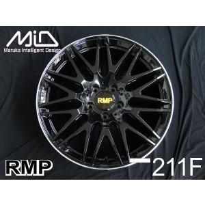 クラウン RMP 211F 8.0J グロッシーブラック 225/45R18 国産タイヤ 4本セット 送料無料|rensshop