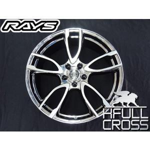 送料無料 レクサスRX RAYS レイズ フルクロス Rp5 ブリリアントノワール DR メッキ × ポリッシュ 235/55R20 国産タイヤホイール4本セット|rensshop