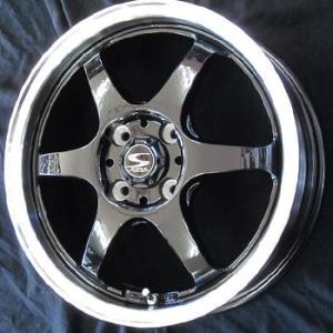レーシングタイプS6 黒 155/55R14 国産タイヤ ホイール4本セット 送料無料|rensshop