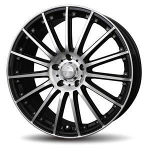 ナットサービス ロクサーニ シュナーベル ブラックポリッシュ 215/45R18 国産タイヤ 4本セット プリウスα SAI リーフ 送料無料|rensshop