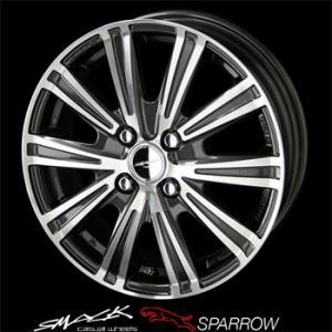 スマック スパロー 155/65R14 国産 低燃費タイヤ ホイール4本セット ウェイク タント 送料無料|rensshop