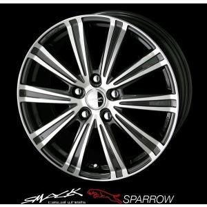 送料無料 スマック スパロー 215/45R17 国産タイヤ ホイール4本セット PCD100 86 BRZ プリウス レクサスCT|rensshop