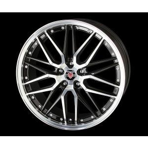 セレナ などに! シュタイナーLMX ブラックポリッシュ 225/40R18  国産タイヤ ホイール4本セット 送料無料|rensshop