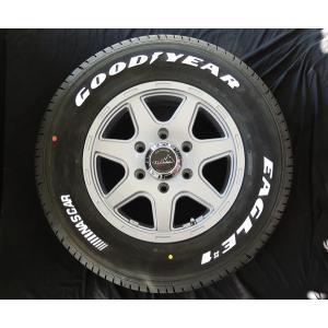 ハイエース ティラードクロス シルバー JWL-T グッドイヤー ナスカー ホワイトレター 195/80R15 107/105L 荷重タイヤ 送料無料|rensshop