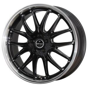 オデッセイ レヴォーグ ナットサービス ロクサーニ トリロジー ブラック 225/45R18 国産タイヤ ホイール4本セット 送料無料|rensshop
