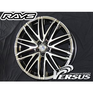 RAYS レイズ ベルサス ヴァローレ DR メッキ 19インチ 225/35R19 国産タイヤホイール4本セット ノア ボクシー エスクァイア ステップワゴン 送料無料|rensshop