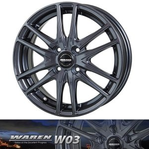ヴァーレンW03 165/50R15 国産 タイヤホイール4本セット パレット バモス ライフ 送料無料 rensshop