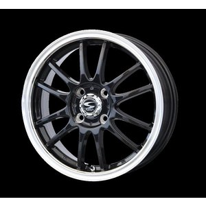 レーシングタイプX6 ブラック リムポリッシュ 165/50R15 国産タイヤ 4本セット パレット ルークス MH21ワゴンR 送料無料 rensshop