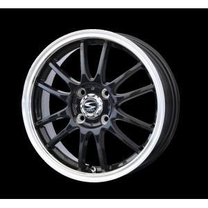 レーシングタイプX6 ブラック リムポリッシュ 165/55R15 国産タイヤ ホイール4本セット ムーブ MH34ワゴンR タント 送料無料 rensshop