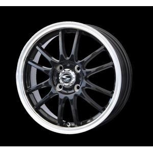 レーシングタイプX6 ブラック 165/55R14 国産タイヤ ホイール4本セット 送料無料|rensshop