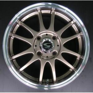 レーシングタイプX6 ブロンズ 165/55R14 国産タイヤ ホイール4本セット 送料無料|rensshop