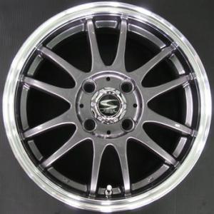 送料無料レーシングタイプX6 ガンメタ 195/50R16 国産タイヤSET アクア 12キューブ|rensshop