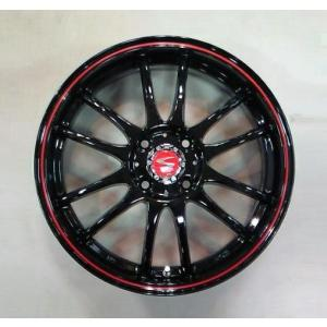 レーシングタイプX6 ブラックレッドリング 195/45R16 国産タイヤ ホイール4本セット タンク ルーミー トール マーチ 送料無料|rensshop