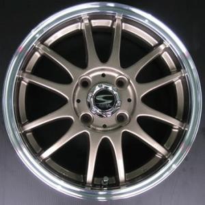 送料無料 レーシングタイプX6 ブロンズ 155/65R14 国産 低燃費タイヤ ホイール 4本セット ムーブ タント ワゴンR|rensshop
