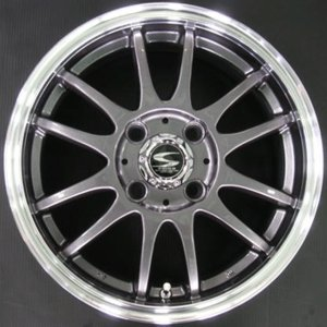 レーシングタイプX6 ガンメタ 155/65R14 国産 低燃費タイヤ ホイール 4本セット ムーブ タント ワゴンR ウェイク 送料無料|rensshop