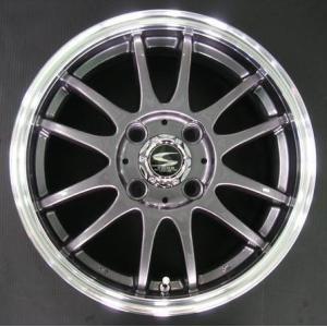 レーシングタイプX6 ガンメタ 195/45R16 国産タイヤ ホイール4本セット タンク ルーミー トール マーチ 送料無料|rensshop