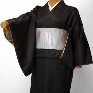 着物 レンタル セット Mサイズ レディース 江戸小紋 濃茶色・万筋|rental-kimono
