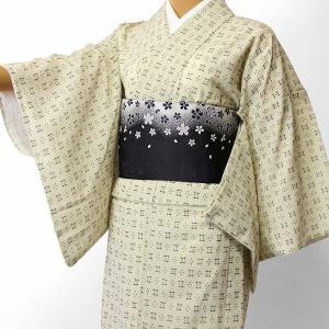 夏物 紗 薄物 着物 レンタル Sサイズ レディース 白 絣 rental-kimono