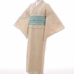 夏物 紗 薄物 着物 レンタル S ワンタッチ 簡単 白 絣 rental-kimono