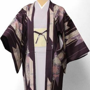 羽織 レンタル オプション レディース 紫矢絣