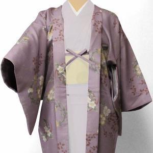 羽織 レンタル オプション レディース 紫 花輪