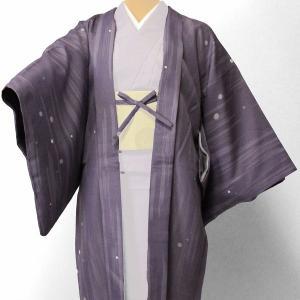 羽織 レンタル オプション レディース 紫 水玉散らし