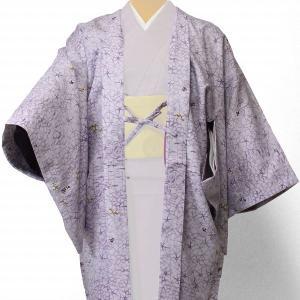 羽織 レンタル オプション レディース 薄紫カチン染