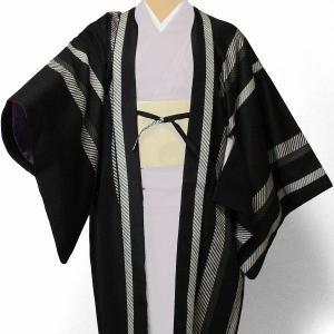 羽織 レンタル オプション レディース 黒縦縞