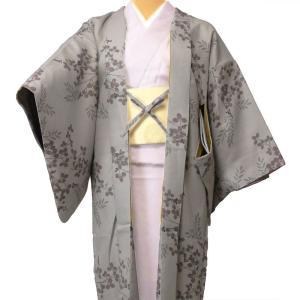 羽織 レンタル オプション レディース グレー萩 rental-kimono