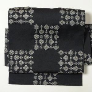 名古屋帯 レンタル アップグレード 黒・市松〔オプション〕お太鼓|rental-kimono
