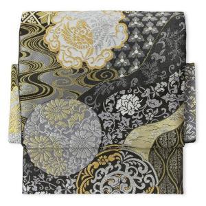 袋帯 レンタル アップグレード 黒 鳳凰丸文 2部式 付け帯|rental-kimono