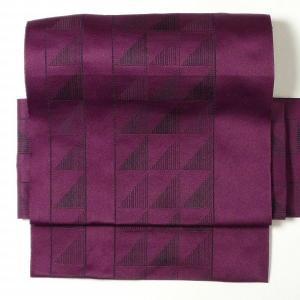 名古屋帯 レンタル アップグレード 赤紫・ウロコ文〔オプション〕お太鼓|rental-kimono
