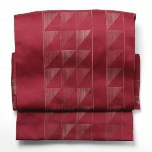 名古屋帯 レンタル アップグレード 赤・ウロコ文〔オプション〕お太鼓|rental-kimono