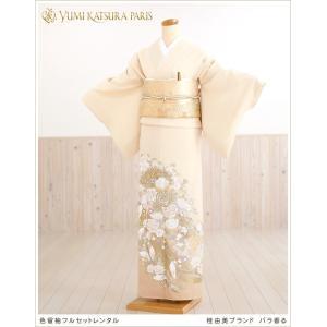 桂由美 色留袖レンタル it011 バラ香る2 五つ紋 着物...