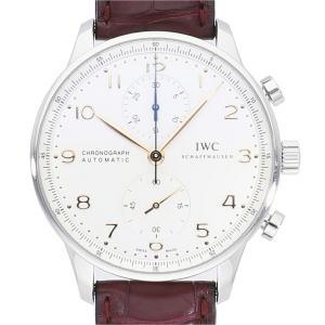 IWC ポルトギーゼ クロノグラフ 金針 IW371445 中古 メンズ(男性用) 送料無料 腕時計