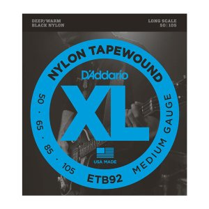 D'Addario XL ETB92 BLACK NYLON|repairgarage