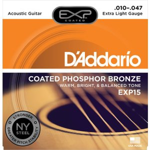 D'addario EXP15 Coated Phosphor Bronze Extra Light 10-47|repairgarage