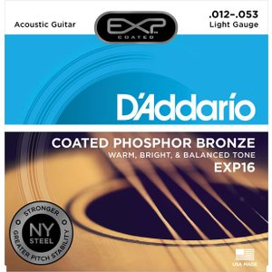 D'addario EXP16 Coated Phosphor Bronze Light 12-53|repairgarage
