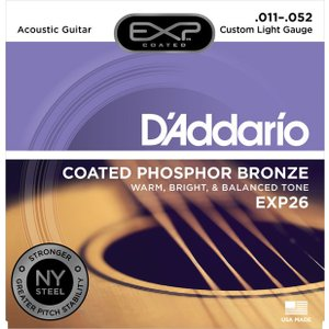 D'addario EXP26 Coated Phosphor Bronze Custom Light 11-52|repairgarage