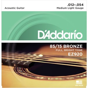 D'addario 85/15BRONZE EZ920 Medium Light|repairgarage