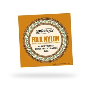 D'Addario EJ32C FOLK SilverPlated Wound NYLON|repairgarage