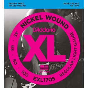 【数量限定】D'Addario EXL170S NICKEL WOUND SHORT SCALE【並行輸入品】|repairgarage