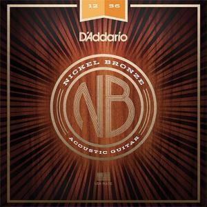 D'Addario NB1256 Nickel Bronze Light Top Med Bottom|repairgarage