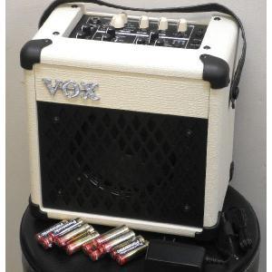 VOX MINI5 Rhythm IVORY なんと PANASONIC 単3アルカリ電池 12本 つき!|repairgarage