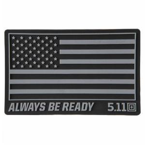5.11タクティカル ミリタリーワッペン USAフラグ 81024 ベルクロ [ ブラック ] ミリタリーパッチ アップリケ 記章 徽章 襟章 肩章|repmartjp