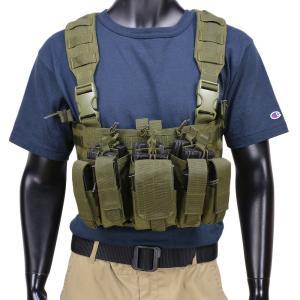 CONDOR チェストリグ MCR5 リーコン M4 ピストルマガジン6本 [ オリーブドラブ ] OUTDOOR コンドルアウトドア 弾薬帯|repmartjp