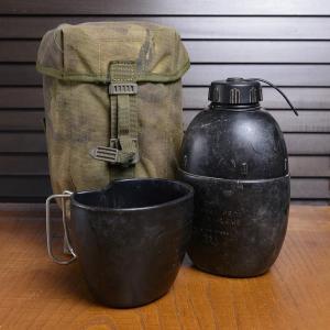 イギリス軍放出品 キャンティーン 水筒 ポーチ付き DPM迷彩 PLCE装備 [ Aランク ] 英軍 払下げ品 ミリタリー サバゲー|repmartjp