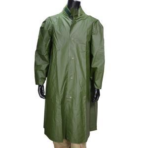 スウェーデン軍放出品 レインコート OD 防水素材 [ 80年代製 / Aランク ] 実物 レインジャケット ラバー製 雨具 ゴム素材 ミリタリー|repmartjp