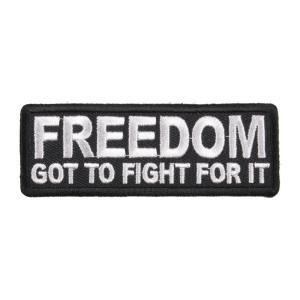 ミリタリーパッチ FREEDOM アイロンシート付 ミリタリーワッペン アップリケ 記章 徽章 襟章 肩章 胸章 階級章 スリーブバッジ|repmartjp