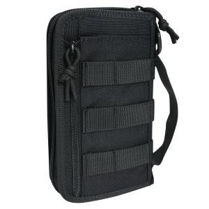 タクティカルウォレット 1000Dナイロン生地製 ハンドバッグ ユーティリティー [ ブラック ] セカンドバッグ 財布 札入れ EDC|repmartjp